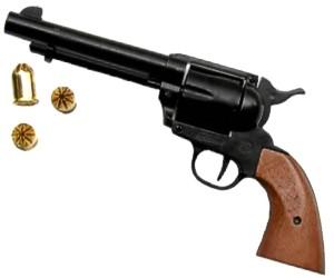 1873 Peacemaker 380/9MM Blank Gun Black-Wood :: Blank Firing