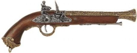 Pirate Flintlock Pistol Brass