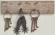 Deluxe Western Barn wood Accessories Display Rack.