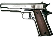 Bruni 1911 Blank Firing Gun 8MM - Nickel