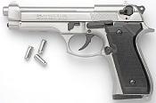 Beretta M92F-8MM Blank Firing Gun-Nickel