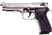 Fully Automatic Blank Gun Beretta V92F Jackal 9MMPA Nickel