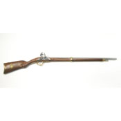 French Model 1807 Non Firing Flintlock Rifle Brass