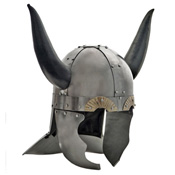 Medieval Viking Horned Helmet