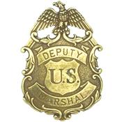 Deputy United States Marshal Eagle Badge – Brass
