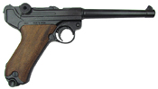 Replica German Luger Naval Parabellum P-08 WWI - WWII Non-Firing Replica Wood Grips