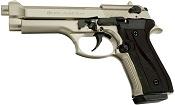 Fully Automatic Blank Gun Beretta V92F Jackal 9MMPA Satin