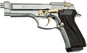 Fully Automatic Blank Gun Beretta V92F Jackal 9MMPA Chrome Gold