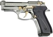 Fully Automatic Blank Gun Beretta V92F Jackal Compact 9MM PA Chrome Gold