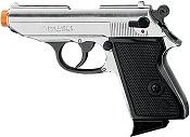 Front Firing PPK 9MMPA Blank Firing Gun- Nickel