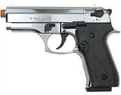 Front Firing Beretta Cougar 9MMPA Blank Gun- Chrome