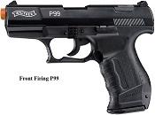 Front Firing Walther P99 9MMPA Blank Gun Black
