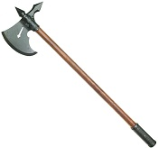 15TH CENTURY FRENCH BATTLE AXE BLACK FINISH