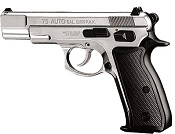 Kimar M-75 8MM Semi-Auto Blank Firing Gun - Nickel Finish