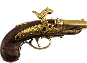 Philadelphia Derringer Cap Firing Replica -Brass
