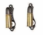 Bullet Gun Hangers Gold/Silver Finish