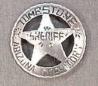 Deluxe Sheriff Tombstone Badge.