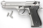 Beretta M92F-8MM Blank Firing Gun-Nickel