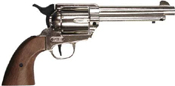 1873 Peacemaker 9MM/380 Blank Gun Silver-Wood