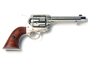 Western 1873 nonfiring Replica Revolver, Nickel