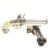 Itallian 3 Barrel Flintlock Pistol G