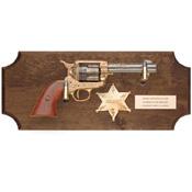 Sheriff's Framed Collection Set Dark Wood