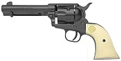 1873 Peacemaker 6MM Blank Gun Black Ivory Grips