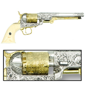 CA Classics M1851 Navy Revolver Nickel Gold