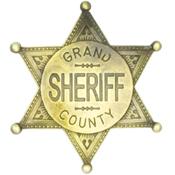 Grand County Sheriff Badge – Brass