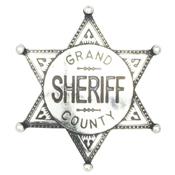 Grand County Sheriff Badge – Nickel