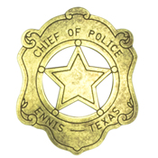 Chief Of Police Badge - Ennis Texas