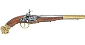 Russian Flintlock Pistol Brass