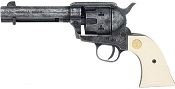 1873 Peacemaker 9MM/380 Blank Gun Antiqued Finish, Ivory Grips