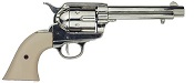 Cap Firing 1873 Peacemaker, Nickel with Ivory Grips