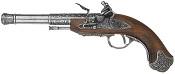 Left Handed India Flintlock Pistol Gray