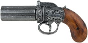 British Pepperbox Revolver Replica – Brass