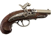 Philadelphia Derringer Non Firing Replica - Shiny Nickel