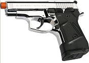 ZORAKI M914 Chrome Semi Auto 9MMPA Blank Gun