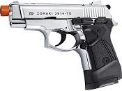 ZORAKI 2914 Chrome Semi Auto 9MMPA Blank Gun