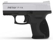 Retay P114 Front Firing 9MMPA Blank firing gun Nickel