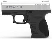 Retay P114 Front Firing 9MMPA Blank firing gun Chrome