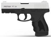 Retay PT24 Front Firing 9MMPA Blank firing gun Chrome