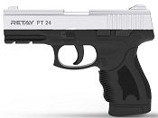 Retay PT24 Front Firing 9MMPA Blank firing gun Nickel