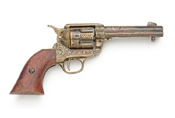 Gold Engraved Western Fast Draw Pistol